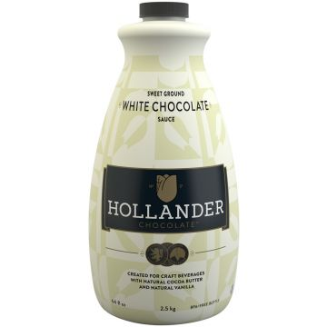Hollander Sweet Ground White Chocolate Sauce (64 fl oz), J-Chocolate-WMS