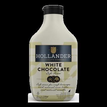 Hollander Sweet Ground White Chocolate Sauce (14 fl oz), J-Chocolate-WMS (14oz bottle)