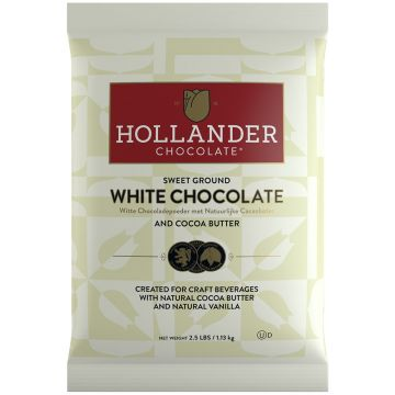 Hollander Sweet Ground White Chocolate Powder (2.5 lbs), J-White Chocolate-P