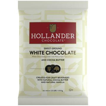 Hollander Sweet Ground White Chocolate Powder (2.5 lbs), J-White Chocolate-P