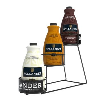 Hollander 3 Tier Wire Sauce Rack (for 64 oz bottles), J-WireRack3