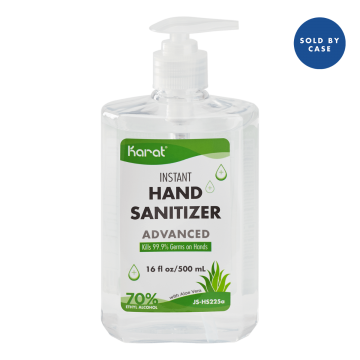 Karat 16 oz Hand Sanitizer Gel with Aloe Vera - Case of 24 bottles