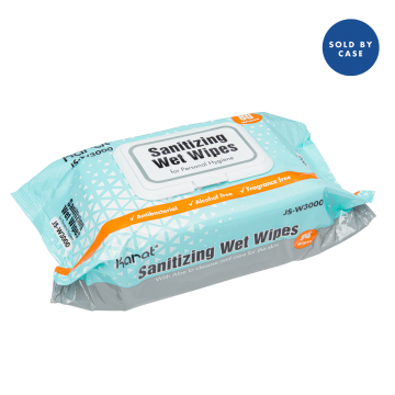Karat Sanitizing Wet Wipes (12 Packs of 80 Wipes) - 960 ct
