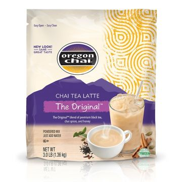 Oregon Chai Original Chai Tea Latte Mix, K-Chai, 3.0 lb, original (powder mix)