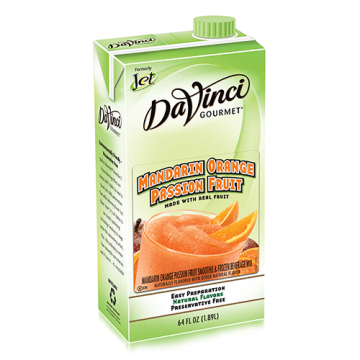 Da Vinci Mandarin Orange Passion Fruit Smoothie Mix (64oz) - Formerly Jet, K-Jet (Mandarin Orange Passion Fruit)