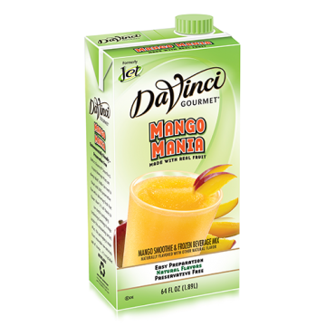 DaVinci Mango Mania Fruit Smoothie Mix (64oz) - Formerly Jet, K-Jet (Mango Mania)