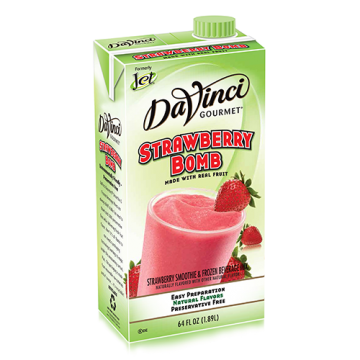 DaVinci Strawberry Bomb Fruit Smoothie Mix (64oz) - Formerly Jet, K-Jet (Strawberry Bomb)