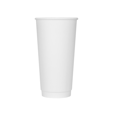 Karat 20oz Insulated Paper Hot Cups - White (90mm) - 300 ct
