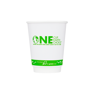 Karat Earth 12 oz. Eco-Friendly Insulated Paper Hot Cups - One Cup, One Earth - 90mm - 500 ct