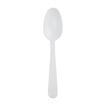 Karat PP Plastic Premium Extra Heavy Weight Tea Spoons - White - 1,000 ct