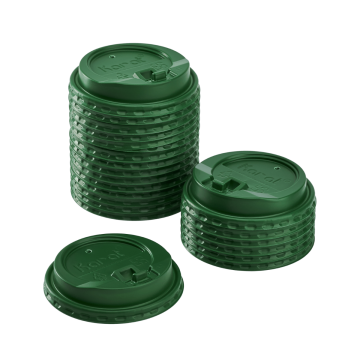 Karat 10-24oz Enclosure Lids - Green (90mm) - 1,000 ct