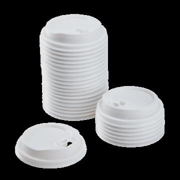 Karat 10-24oz Enclosure Lids - White (90mm) - 1,000 ct