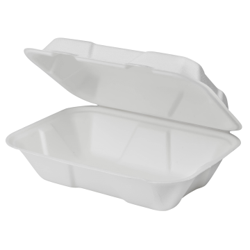 Karat Earth 9''x6'' Compostable Bagasse Hinged Containers - 200 ct