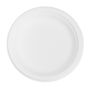 Karat Earth 6'' Compostable Bagasse Round Plates - 1,000 ct, KE-BPR06-1C