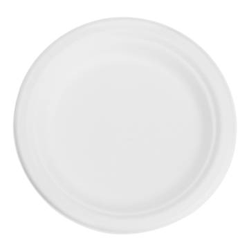Karat Earth 7'' Compostable Bagasse Round Plates - 1,000 ct, KE-BPR07-1C