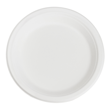 Karat Earth 9'' PFAS Free Compostable Bagasse Round Plates - 500 ct