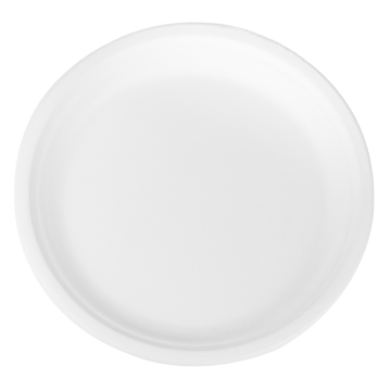 Karat Earth 10'' PFAS Free Compostable Bagasse Round Plates - 500 ct