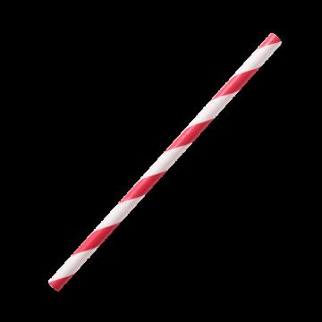 "Karat Earth Stir Unwrapped Paper Straw_5.25"" (Red Spiral)"