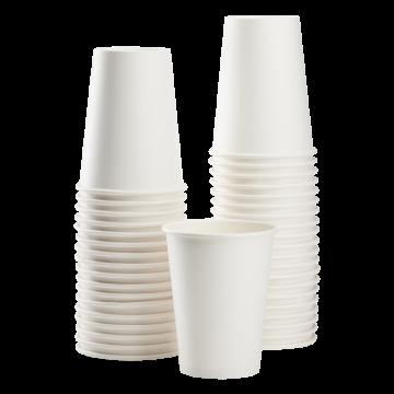 Karat Earth 12oz Eco-Friendly Paper Hot Cups - White (90mm) - 1,000 ct