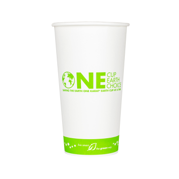 Karat Earth 20oz Eco-Friendly Paper Hot Cups - One Cup, One Earth (90mm) - 600 ct