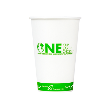 Karat Earth 16oz Eco-Friendly Paper Cold Cups - One Cup, One Earth - 90mm - 1,000 ct