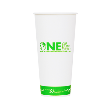 Karat Earth 22oz Eco-Friendly Paper Cold Cups - One Cup, One Earth - 90mm - 1,000 ct