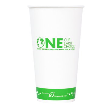 Karat Earth 32oz Eco-Friendly Paper Cold Cups - One Cup, One Earth - 104.5mm - 600 ct, KE-KCP32