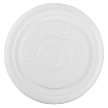 Karat Earth Compostable Flat Lid for 2 oz Eco-Friendly Paper Portion Cup