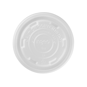 Karat Earth 8oz Compostable Paper Food Container Flat Lids (90.8mm) - 1,000 ct