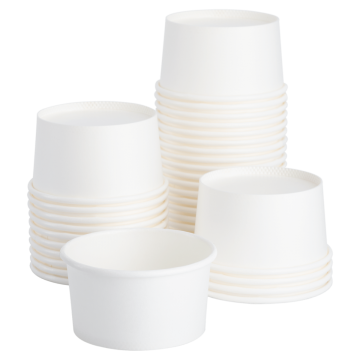 Karat Earth 4 oz Eco-Friendly Paper Portion Cup - White