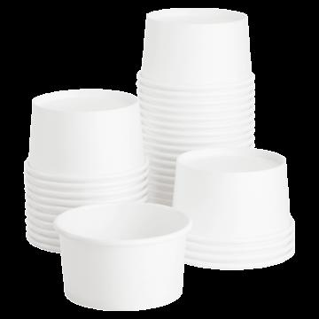 Karat Earth 4oz Eco-Friendly White Paper Portion Cups