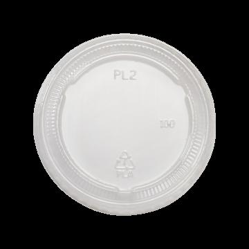 Karat Earth 2 oz./4 oz. PLA Portion Cup Lids - Clear - 2,000 ct