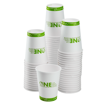 Karat Earth 16oz Eco-Friendly Paper Hot Cups - One Cup, One Earth (90mm) - 1,000 ct