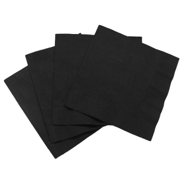"Karat 10""x10"" Premium Beverage Napkins - Black (Bulk Box) - 4,000 ct"