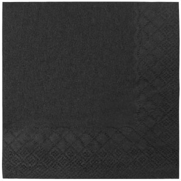 "Karat 9.5""x9.5"" Black Beverage Napkins - 4,000 ct"