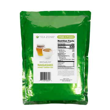Tea Zone MilkTeaBLAST Nagasaki Savory Honey Green Tea Powder (2.2 lbs)