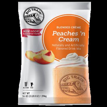 Big Train Peaches 'N Cream Blended Creme Frappe Mix (3.5 lbs), P6004