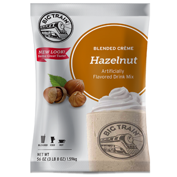 Big Train Hazelnut Blended Creme Frappe Mix (3.5 lbs), P6008