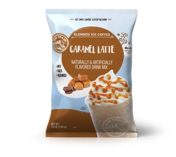 Big Train Caramel Latte Blended Ice Coffee Beverage Mix (3.5 lbs)
