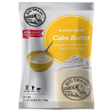 Big Train Cake Batter Blended Creme Frappe Mix (3.5 lbs), P6017