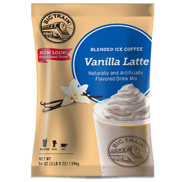 Big Train Vanilla Latte Blended Ice Coffee Mix (3.5 lbs), P6027