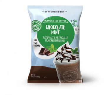 Big Train Chocolate Mint Blended Ice Coffee Beverage Mix (3.5 lbs)