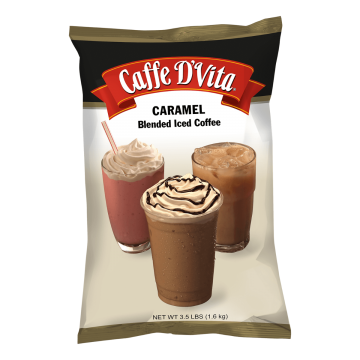 Caffe D'Vita Caramel Latte Blended Ice Coffee (3.5 lbs)