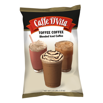 Caffe D'Vita Toffee Coffee Latte Blended Ice Coffee (3.5 lbs)