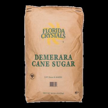 Florida Crystals Wholesome Demerara Raw Cane Sugar - 50 lb