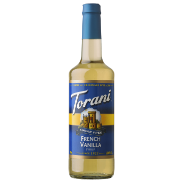 Torani Sugar Free French Vanilla Syrup(750 mL), G-French Vanilla-sf