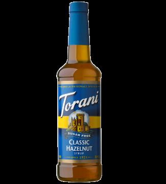 Torani CLASSIC Sugar FREE Hazelnut Syrup - 750ML