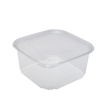 Karart 64oz PET Tamper Resistant Deli Container with Flat Lid
