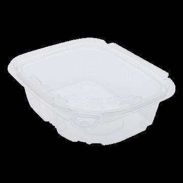 Karat 12oz PET Plastic Tamper Resistant Hinged Deli Container with Lid - 200 ct