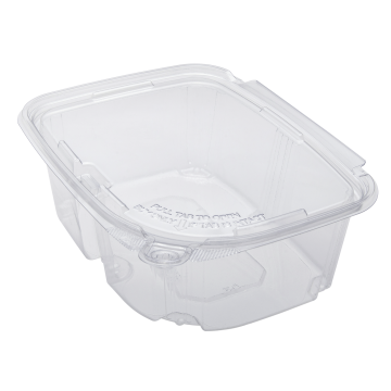 Karat 32oz PET Plastic Tamper Resistant Hinged Deli Container with Lid - 200ct